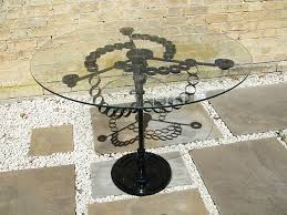 contemporary metal furniture. Glass Table Created From Recycled Steel Contemporary Metal Furniture