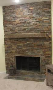 Black Slate Tile Fireplace  Lighting  Pinterest  Tiled Slate Fireplace