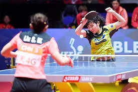 sweden a powerhouse in the sport thanks in part to ogimura s help hosted this year s world team table tennis championships japan s hirano miu plays