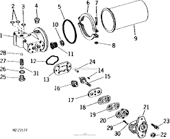 John deere parts diagrams john deere pump reservoir 110