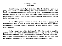my birthday party essay co my birthday party essay