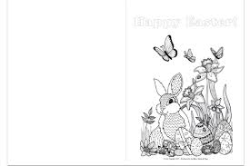 Printable easter cards by canva. Printable Easter Colouring Pages And Easter Card