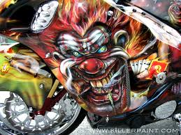 Crazy Paint Jobs Project Flashback Going All In With Evil Clowns Motorcycle