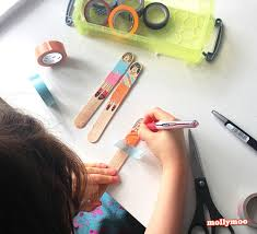 MollyMooCrafts Quick Craft - Craft Stick Dolls