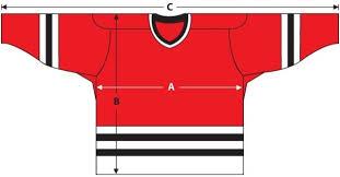 55 Unusual Size Chart For Hockey Jerseys