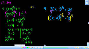 solving equations with radical and rational exponents