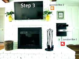 hanging over fireplace how to hang where put cable box install stone tv mount above no