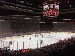 Wells Fargo Center Section 122 Home Of Philadelphia Flyers