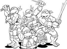 Teenage Mutant Ninja Turtle Coloring Pages Trustbanksurinamecom