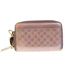 gucci keychain wallet. auth gucci micro gg pattern key chain bifold wallet patent leather pink 07ec049 gucci keychain a