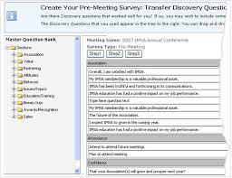 Meeting Survey Template Meetingmetrics Online Services Questionnaire Builder