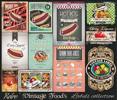 Vintage Food Labels Retro Vintage Foods Labels Collection Small Posters Label And
