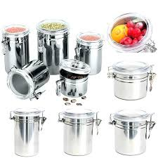 airtight containers for flour and sugar stainless steel sealed canister coffee tea container holder salt glass