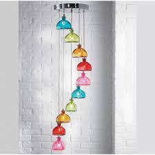 endon 10 light multi coloured glass ceiling pendant light sarandon 10multi lighting from the home lighting centre uk