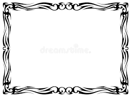 simple frame tattoo. Brilliant Simple Download Simple Black Tattoo Ornamental Decorative Frame Stock Vector   Illustration Of Line Graphic And M