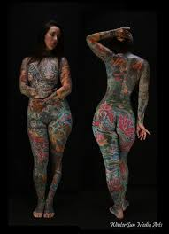 Heavy tattooed women naked