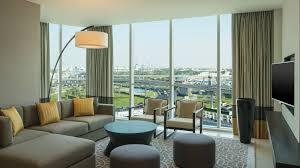 Living Room And Bedroom Hotel Apartments Dubai Sheraton Grand Hotel Dubai