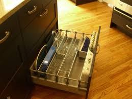 casserole storage in a deep lower drawer via ths