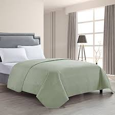 quilted bed covers. Delighful Bed HollyHOME Luxury Checkered Super Soft Solid Single Pinsonic Quilted Bed  Quilt Bedspread Cover Sage In Covers E