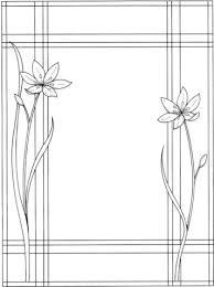 Lijst Met Twee Bloemen Kleurplaat Gratis Kleurplaten Printen