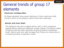 Learning Objectives General trends of group 17 elements - ppt download