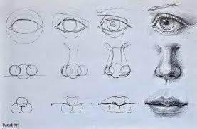 pin drawn eyeball nose 10