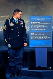 u s department of defense photo essay medal of honor recipient army sgt 1st class leroy a petry stands next to