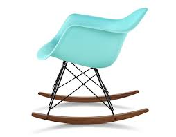 eames® molded plastic armchair with rocker base  hivemoderncom