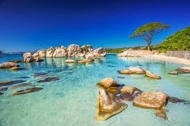boulders on the beautiful palombaggia beach