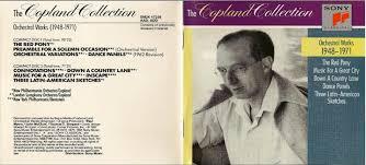copland orchestral works los altos melomanos aaron copland orchestral works 1948 1971