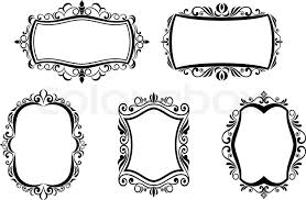 frame design vector. Simple Design Antique Vintage Frames Isolated On White For Design Vector On Frame Design Vector C