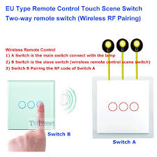 two way switch working facbooik com 2 Gang Two Way Switch Wiring Diagram 3 gang touch scene switch working as remote controller (two\&multi Double Pole Switch Wiring