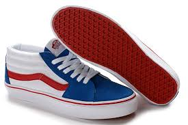 vans red and white. vans sk8 mid skate shoes red blue white and n