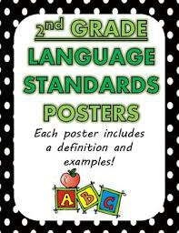 Common Core Standards Anchor Charts Language Standards Posters Anchor Charts 2nd Grade Common Core