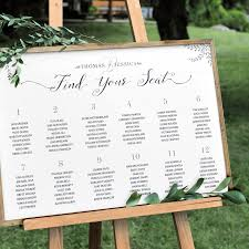 Personalized Seating Chart Rustic Seating Chart Personalized Print