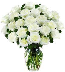 two dozen white rose bouquet avas flowers