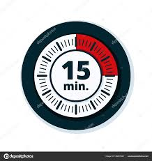 15 Min Timer Minutes Timer Icon Isolated White Background Vector