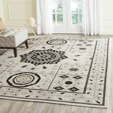 safavieh kenya collection kny625a handmade ivory and grey wool square area rug