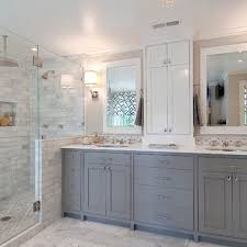 Bathroom Remodel Gallery Custom Gray And White Bathroom Design Ideas Pictures Remodel And Decor