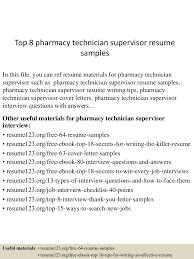 toppharmacytechniciansupervisorresumesamples lva app thumbnail jpg cb