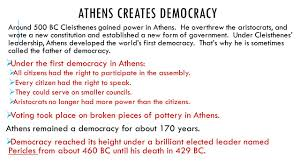 athenian form of government chapter 8 ancient greece section 2 government in athens ppt download