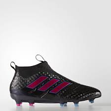 men adidas ace 17 purecontrol firm ground football boots black pink blue 42342