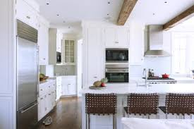 Modern Kitchen Counter Stools Modern Kitchen Decoration Design Ideas Using White Wood Glass Door