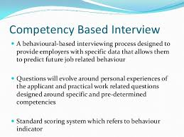 Behavioural Based Interviewing Competency Based Recruitment