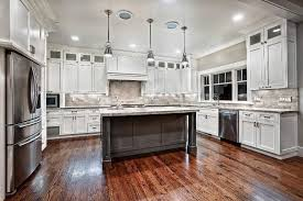 grey granite countertops with white cabinets