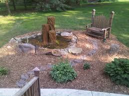 outdoor rock fountain