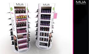 Make Up Stands And Displays MUA Spinning Makeup Display Stand 1