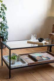 multi tray marble mango wood coffee