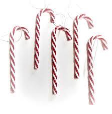 5er Deko Zuckerstangen Rot Weiß Christbaumschmuck Weihnachten Kunststoff 9