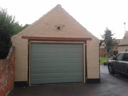 custom colour automatic sectional garage door retford